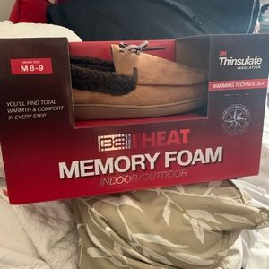 Memory foam slippers men's size 8-9 brand new